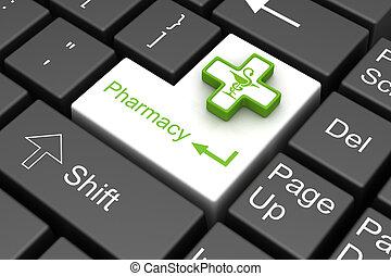 farmácia, tecla enter