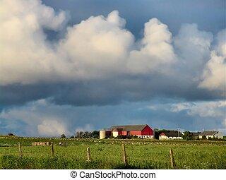 Farm - A farm w/ heavy clouds. Rogaland, Norway.
