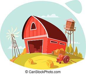 Farm And Fresh Products Concept - Farm and fresh organic...