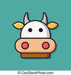 farm animal cow icon