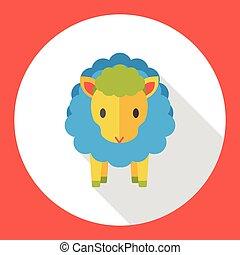 farm animal sheep flat icon