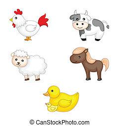 Farm animals - A vector illustration of farm animals graphic