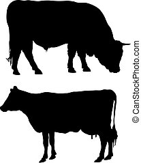 Abstract vector illustration of farm animals