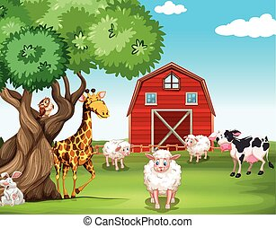 Farm animals and wild animals