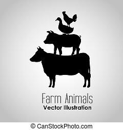 farm animals design, vector illustration eps10 graphic
