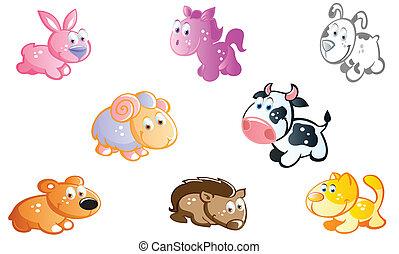 farm animals in the garden