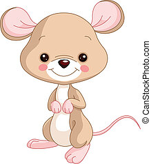 Farm animals. Mice - Farm animals. Illustration of cute Mice...