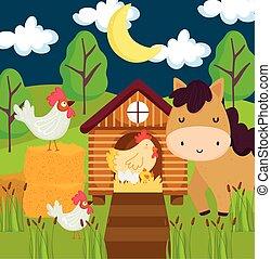 farm animals night