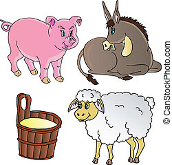 Farm animals theme collection