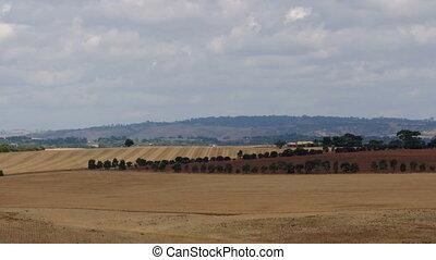 Farm Australian landscape - time-lapse