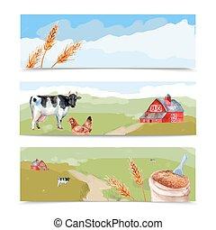 Farm Banners Set