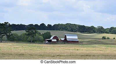 Farm barn house