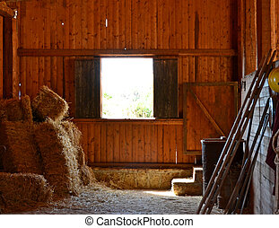 Farm - barn wood window and hay