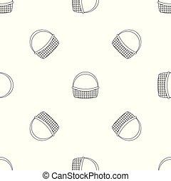 Farm basket pattern seamless vector