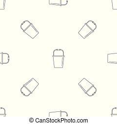 Farm bucket pattern seamless vector
