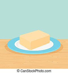 Farm butter on the table