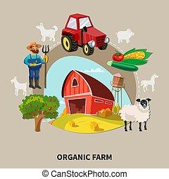 Farm Cartoon Composition