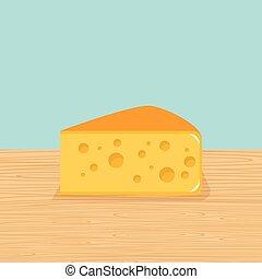 Farm cheese on the table
