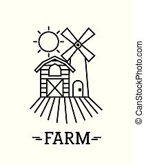farm circle background flat