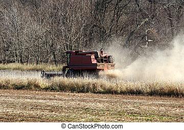 Farm combine tractor