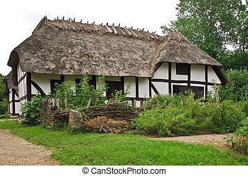Farm cottage in Open Air Museum in Copenhagen,Denmark