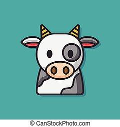 farm cow vector icon