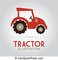 Farm design over gray background, vector illustration