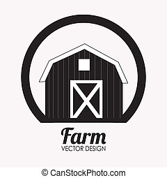 Farm design over white background, vector illustration
