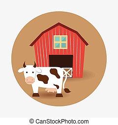 Farm design, vector illustration.