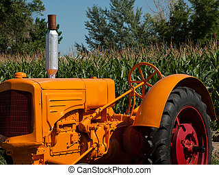 Farm Equipment - Old farm equipment on the display at the ...