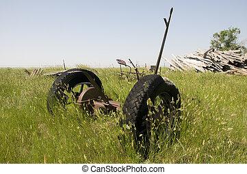 Farm Equipment on Wyoming Ranch.