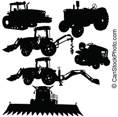 illustration of farm equipments packages collections