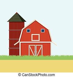Farm field banner