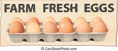 Farm fresh eggs poster with text
