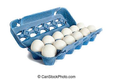 Farm Fresh Eggs - Farm Fresh Egg on a white background in a...