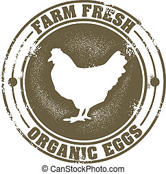 Vintage farm fresh eggs sign.