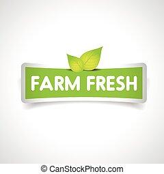 Farm fresh label vector