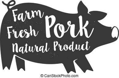 "farm fresh pork - Graphic pig and labeled: ""Farm Fresh..."