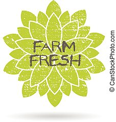Farm fresh produce logo. Vector graphic design