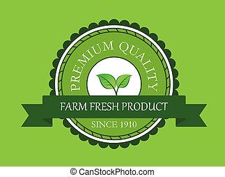 Farm fresh product label