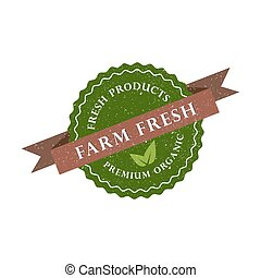 Farm fresh, product, premium organic icon. Vector illustration
