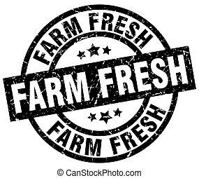 farm fresh round grunge black stamp