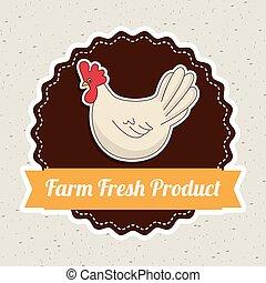 farm fresh graphic design , vector illustration