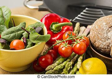 Farm fresh vegetables ready to be prepared