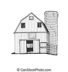 Farm hand drawn. Sketch vector illustration