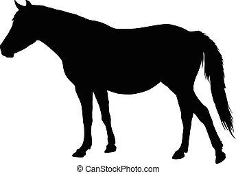 Farm horse silhouette