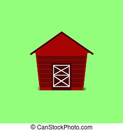 FARM HOUSE CARTOON ILLUSTRATION / ON MINT