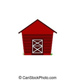 FARM HOUSE CARTOON ILLUSTRATION / ON WHITE