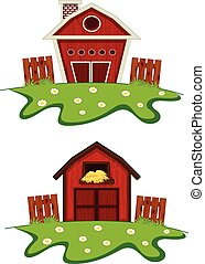 Farm house cartoon