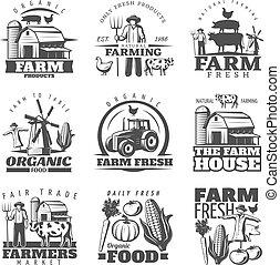 Farm House Emblems Set
